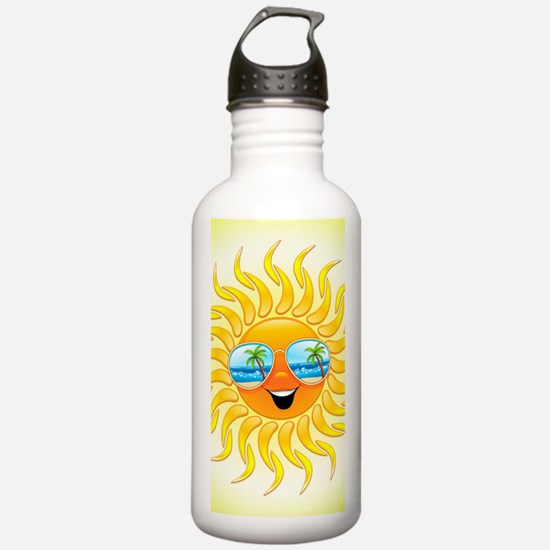 Summer Sun Cartoon wit Water Bottle
