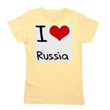 I Love Russia Girl's Tee