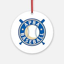 New APBA Baseball Logo Round Ornament
