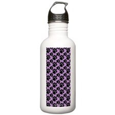 Dog Paws Light Purple Water Bottle