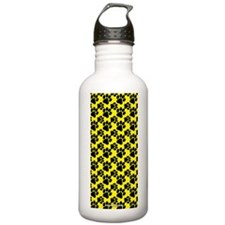 Dog Paws Yellow Water Bottle