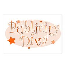 """""""Publicity Diva"""" [orange] Postcards (Package of 8)"""