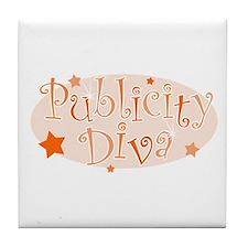 """""""Publicity Diva"""" [orange] Tile Coaster"""