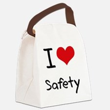 I Love Safety Canvas Lunch Bag