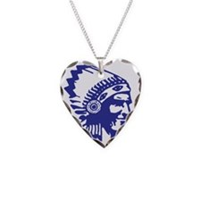 Blue Indian Head Dress Necklace