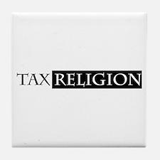 tax religion Tile Coaster