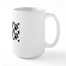 Black Dog Paws on White Mug