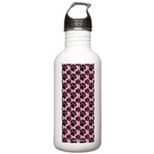 Dog Paws Pink Water Bottle
