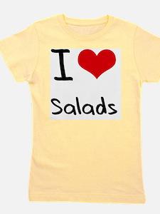 I Love Salads Girl's Tee