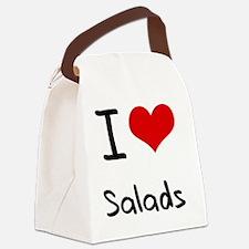 I Love Salads Canvas Lunch Bag