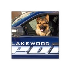 "Lakewood Police K9 Square Sticker 3"" x 3"""