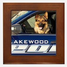 Lakewood Police K9 Framed Tile