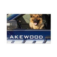 Lakewood Police K9 Rectangle Magnet