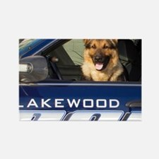 Lakewood Police K9 Rectangle Magnet