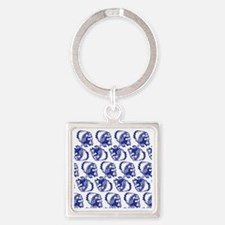 Blue Indian Square Keychain