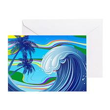 Sea Ocean big Wave Water Greeting Card