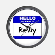 hello my name is reilly  Wall Clock
