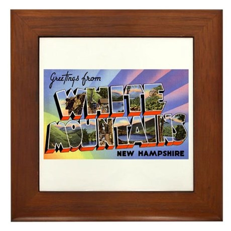 White Mountains New Hampshire Framed Tile