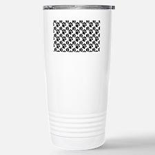 Black Dog Paws on White Travel Mug