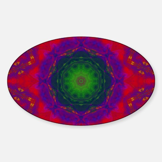 3D Kaliedescope Sticker (Oval)