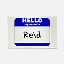hello my name is reid Rectangle Magnet