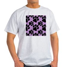 Dog Paws Light Purple T-Shirt