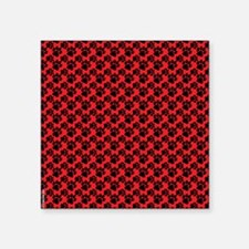 """Dog Paws Red Puppy Square Sticker 3"""" x 3"""""""