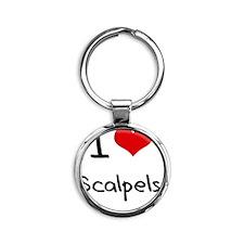 I Love Scalpels Round Keychain