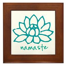 Namaste Lotus Framed Tile