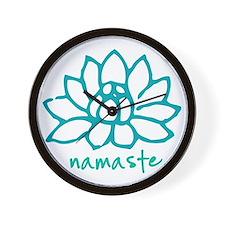 Namaste Lotus Wall Clock