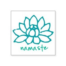 "Namaste Lotus Square Sticker 3"" x 3"""