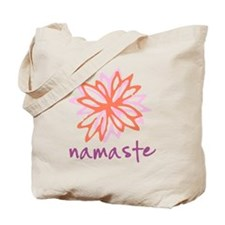 Namaste Flower Tote Bag