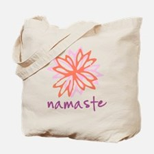 Namaste Flower Tote Bag