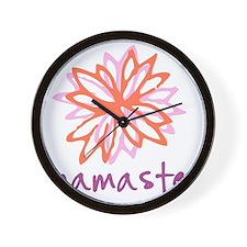 Namaste Flower Wall Clock