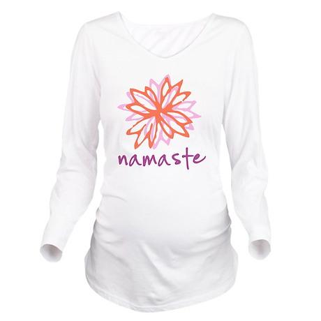 Namaste Flower Long Sleeve Maternity T-Shirt