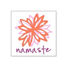 "Namaste Square Sticker 3"" x 3"""