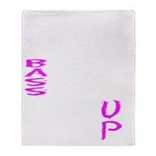 STOP bass DROP ROLL up Throw Blanket