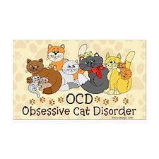 OCD Obsessive Cat Disorder Rectangle Car Magnet