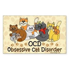 OCD Obsessive Cat Disorder Decal