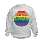 2 or 3 MARRIAGES?! Kids Sweatshirt