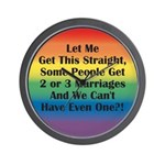 2 or 3 MARRIAGES?! Wall Clock
