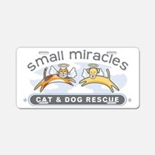 Small Miracles transparent  Aluminum License Plate