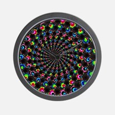 Psychedelic Wormhole Wall Clock