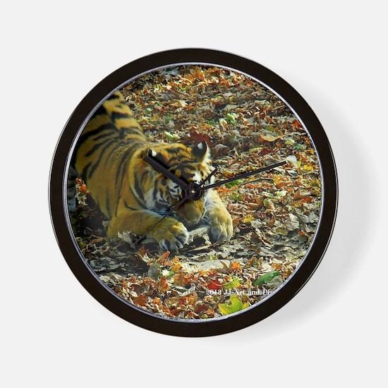 tiger and rock Wall Clock