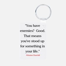 CHURCHILL QUOTE - ENEMIES Keychains