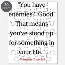 CHURCHILL QUOTE - ENEMIES Puzzle