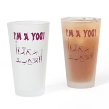 IM A YOGI - YOGA TEE SHIRT Drinking Glass