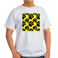 Dog Paws Yellow T-Shirt
