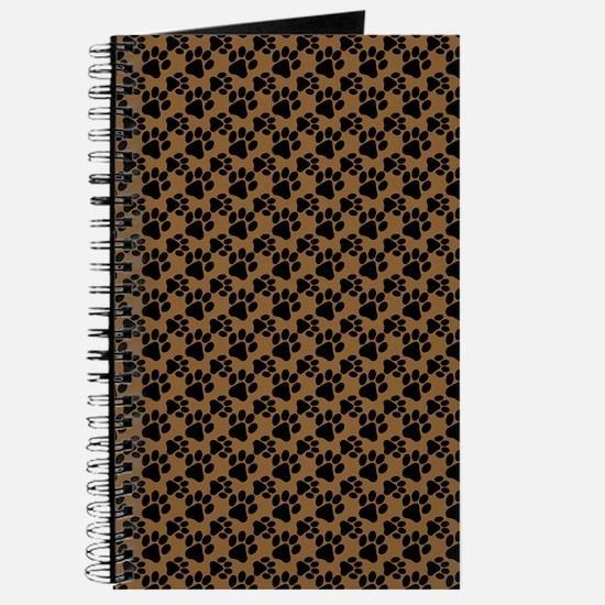 Dog Paws Brown Journal