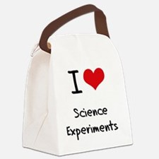I Love Science Experiments Canvas Lunch Bag